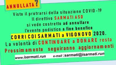 8^ Corri coi Sarmati a Vigonovo – Annullata